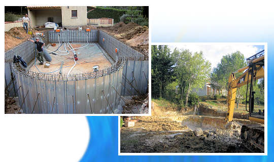Construction piscine b ton proc d master for Forme piscine beton